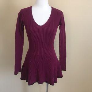 Armani Exchange Purple Cotton Skater Sweater XS